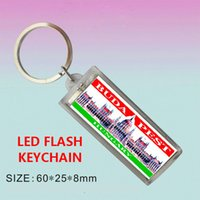 Wholesale Multi Color Mini Hearts - Cool Solar Power Keychain LED Flashlight Alternating Flashing Mini Key Chain 3 LED Multi-color Customized Gift