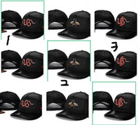 Wholesale outdoor summer hats for men - Snake Cap Tigers Snapback Baseball Caps Leisure Hats Bee Snapbacks Hats outdoor golf sports hat for men women