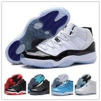 Wholesale 2016 Casual Shoes Retro XI Bred Concord Legend Blue Basketball Shoes Gamma Blue Sneakers Cheap Basketball Sneakers Women mens