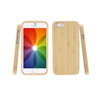 ingrosso iphone genuino di bambù-All'ingrosso 1pc genuino legno naturale di bambù di legno posteriore dura custodia per iPhone 6 4.7