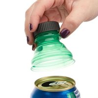 Wholesale Drink Can Tops - Plastic Drinking Bottle Caps Can Convert Soda Savers Toppers Reusable Tops