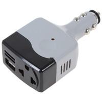 ingrosso caricabatteria convertitore adattatore ac dc-All'ingrosso-DC 12 / 24V a CA 220V / USB 6V Auto Mobile Power Inverter Adattatore Auto Car Power Converter Charger