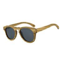 Wholesale Handmade Wooden Eyeglass Frames - HALLOWEEN GIFTS Men Women Handmade Retro Wooden Sunglasses Polarized Eyeglasses Wood Gray Lens Wood Sunglasses with Box kl-042