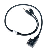 Wholesale Audio Mmi Cable - Car Auto 3.5mm AUX Audio Adapter Cable MDI AMI MMI Male Interface Connect Charge Audio Adapter for Audi VW IPhone IPod