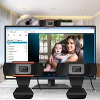 Wholesale Mega Box Hd - A870B Webcam 720P HD Web Cameras Rotatable 1280*720 Computer Web Cam PC Camera with Mic Microphone for Android TV Box Laptop Netbook