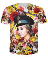 Wholesale Amanda Bynes - Women Men 3D Amanda Bynes All Over Print Paparazzi T-Shirt Summer Short Sleeve Tops TEE t shirts Sexy Unisex tees
