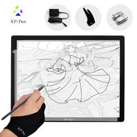 XP-Pen pad and pen - XP Pen A3 Inches LED Art craft Tracing Light Table Light Box Dimmable Drawing Pad X ray Pad with Paper Clips and Anti fouling Glove