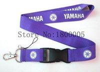 Wholesale Camera Neck Strap Lanyard Holder - Fashion Purple White Yamaha Motorcycle Lanyard For Key Camera ID Badge Holder Neck Strap For Mp3 4 Keychain Man Boys