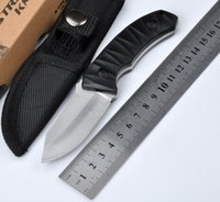 Wholesale Strider Fixed - 2016!!Strider TZ-02 SMF Fixed Blade knife Ox horn 420 high speed steel black stonewashed texture handle outdoor survival knife free shipping