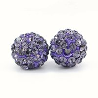 Crystal Rhinestones Pave Clay Spacer Ball Beads Completo Perfurado 6 Linhas Rhinestone Ploymer Clay Disco Ball Beads 100pcs / bag