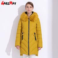 Wholesale Womens Down Coat Plus - Womens Winter Jackets Plus Size Coat Hood Women's Basic Jackets Parka Manteau Femme Down Cotton Parka Warm Clothing GAREMAY