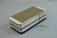 Wholesale Cell Phone Battery Door - For iPhone 5 5G Back Housing Cover Case Battery Back Door Replacement Cell Phones Parts Black White Gold Color