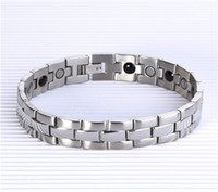 Wholesale Infrared Bracelet - 2017 Free Shipping 4 in 1 Bio Health bracelet with germanium magnet infrared Ion energy Health Magnetic Therapy