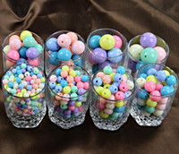 Wholesale Acrylic Loose Necklace Beads - Hot Sale Handmade DIY Candy Colors Acrylic Loose Beads Round Pearls Rainbow Colors for Barcelet Necklace