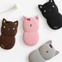 Wholesale Iphone Cartoon Cases Order - Mixed order New style 3D Cartoon cat soft cute cover back phone case for iPhone 5 5s SE