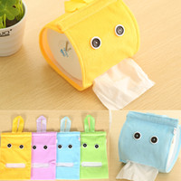 Wholesale One Piece Paper Box - Wholesale-Free Shipping ONE Piece Colorful Lovely Cartoon Home Bathroom Hanging Roll Paper Towel Napkin Tissue Box Holder Random