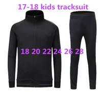 Wholesale Boys Tracksuit Zipper - top quality 17 18 Full Zipper kids Tracksuit Real Madrid Soccer Jacket Jogging Football Tops Coat Pants Training Suit Men Adults Track Suit