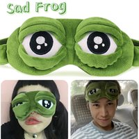 Wholesale Sleep Mask Cartoon Eyes - 2016 Hot Sad Frog 3D Sleep Mask Anime Cartoon Pepe The Frog Eye Masks Funny Cosplay Costumes Accessories Novelty Gift
