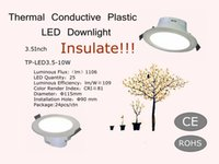 Isolare!!! vendita calda risparmio energetico da 3,5 pollici Thermal Conductive Plastic LED Downlight 220V 6W
