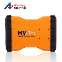 vci aracı toptan satış-YENİ 2016 Çok Taşıtlı MVD TCS cdp ile aynı V2014R3 / R2 MVD Teşhis Aracı VCI Plus OBD2 Bluetoothsiz CarTruck Ücretsiz Aktifleştir