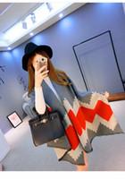 Wholesale tippet stole resale online - Fashion Long Women Scarves Winter Stole Pashmina Wool Cashmere Scarf Designer Tippet Geometric Super Warm Blanket Scarf Shawl