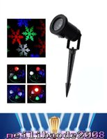 Wholesale Led Christmas Snowflakes - Outdoor Christmas Laser Lights Snowflake Projector Holiday Light RGB Color Snow LED laser Projector Waterproof IP64 MYY