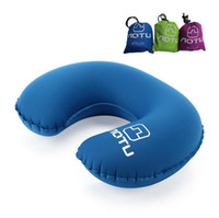 Wholesale Compact Travel Pillow - Inflatable U Soft Flight Travel Car Head Neck Rest Compact Travel Flight Car Pillow Inflatable Pillow Neck U Rest Air Cushion