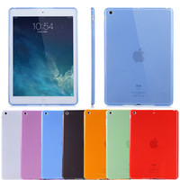 Wholesale Drop N Ship - 2016 Lot free shipping Crystal Clear Transparent TPU Silicone Rubber Skin Gel Case for apple ipad Air2 Air 2 ipad mini 1 2 3 4 N-PT
