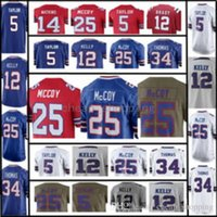 Maglia da uomo Buffalo Bill 25 LeSean McCoy 12 Jim Kelly 5 Tyrod Taylor 34 Thurman Thomas 99 Watkins 14 Sammy Watkins Limited Color Rush