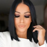 black hair bobs - Cheap Glueless BOB Wigs Full Lace Human Hair Wigs For Black Women Straight Virgin Peruvian Hair Lace Front Wigs G EASY
