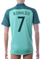 Wholesale Cheap Football Team Shirts - 2016 European Cup PT National Team away 7 FIGO Soccer Jersey Shirts,Wholesale Discount Cheap 7 RONALDO mens 8 J.MOUTINHO football Wear
