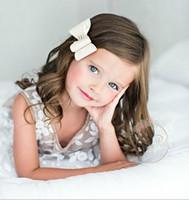 Wholesale White Satin Hair Bow - European American Baby Kids Hair Accessories Satin Bowknot Diamond Hairwear Fashion Kids Children Hair Ornaments Bow DIY Hairwear Tools 9381