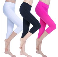 Wholesale female body fitness - Fitness pants female summer high waist tight body movement thin pants stretch fast running fitness yoga