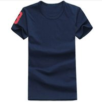 Wholesale T Shirts For Men Lycra - Free shipping 2018 Big Horse cotton new O-neck short sleeve t-shirt brand men T-shirts casual style for sport men T-shirts
