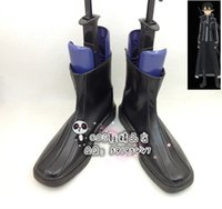 Wholesale Kirito Boots - Wholesale-Sword Art Online_2 Kirito Cosplay Boots Black PU Leather Shoes Ver 2 new come #SAO366 hand made Custom made
