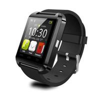 androide armbanduhr handy großhandel-2016 niedrige Preis Mode Bluetooth U8 Smart Uhr Sport Armbanduhr Kompatibel mit Android Hand Uhr Handy