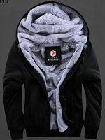 Wholesale Wool Hoodies For Men - 2016 Coats For Men Fur Lined Hoodie Men's Designer Plus Size M-XXXL Jackets Sweaters casual Cardigan