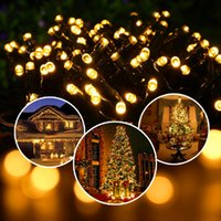 Wholesale Solar Decorative Lights For Halloween - Led Strings Solar Fairy Lights 55ft Waterproof 100 LEDs 1.2V Warm White Outdoor Decorative String Lights for Christmas Wedding Party