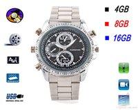Wholesale Dv Waterproof Watch Spy - 100% New Business Fashion Waterproof Spy Cameras Hidden Watch Camera Build in 4GB 8GB 16GB Wrist Watch with Hidden DV