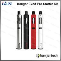 diseño de evod al por mayor-Kanger Evod Pro Starter Kit Todo en uno Diseño Relleno superior con CLOCC Kit de dispositivo de vaporización de boca en espiral para pulmón