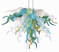 typen kronleuchter großhandel-Energiesparende Lichtquelle und zeitgenössische Art kleiner billiger hängender Innenbeleuchtungs-Kunst-dekorativer mundgeblasener Glaskristallleuchter