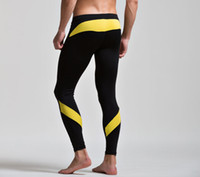 Wholesale Thin Tight Spandex - Wholesale-Brand Sexy Winter Mens Warm Wool Long johns Pijama Men Low-waist Elastic Thin Plus Velvet Legging and Tights Mens Pyjama Bottoms