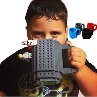 Wholesale Puzzles Black White - Drinkware Building Blocks Mugs DIY Block Puzzle Mug 12oz 1Piece Build-On Brick creative Mug Lego Type Coffee Cup Free Shipping