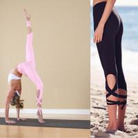 ballettverband großhandel-Wholesale-Pink Yoga Hosen Ballett Geist Bandage Workout Unendlichkeit Wahl Leggings Lavendel für Tanz Mallas Mujer Deportivas Sportswear