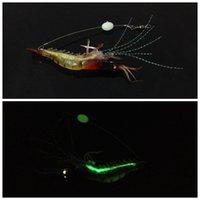 Wholesale Soft Lure Red Head - 10pcs 10cm 6.5g Red Head Luminous Shrimp Hook Silicone Lures Soft Baits Lure Fishing Hooks Fishhooks Artificial Bait Pesca Tackle