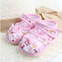 Wholesale baby girl red bottom shoes - Baby soft bottom the spring and autumn period and the 0-3-5-6-3-5-6-10-12 months to 1 year old baby toddler shoes