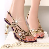 Wholesale Auger Pump - The new spring and summer 2016 diamond sandals women leather sexy set auger heel shoes fish mouth high-heeled shoes princess wedding shoes