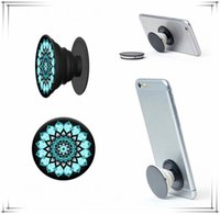 Wholesale Cell Phone Mounts Holders - Phone Holders Plastic Air Cell Mount Expandable Grip Stand 360 Degree Finger Holder Flexible For iPhone Samsung Huawei with 2 style Package