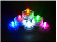 Usine forme ronde gros imperméable bougies LED clignotante, mariage conduit bougies batterie Colorful Operated Candle LED