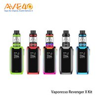 Wholesale x mini green - Original Vaporesso Revenger X Starter Kits 220W with 2ml 5ml NRG Mini Tank Atomizer Touch Button TC Bod Mod Kit 100% Authentic